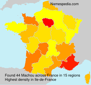 Surname Machou in France