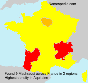 Surname Machraoui in France