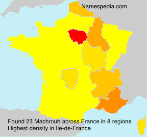 Surname Machrouh in France