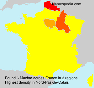 Surname Machta in France