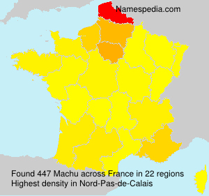Surname Machu in France
