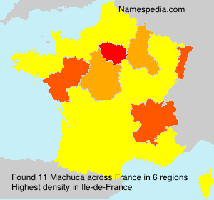 Surname Machuca in France