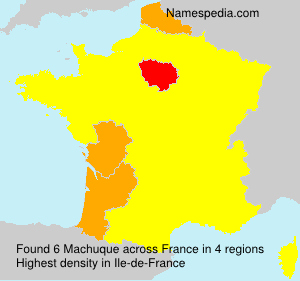 Surname Machuque in France