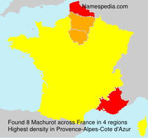 Surname Machurot in France