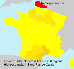 Surname Maciak in France