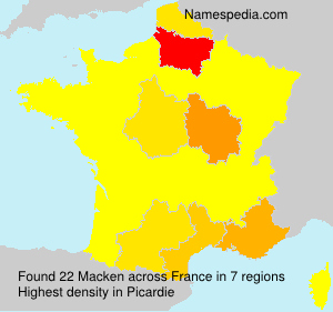 Surname Macken in France