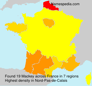 Surname Mackey in France