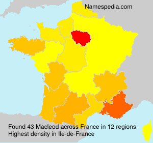 Surname Macleod in France