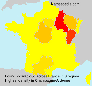 Surname Macloud in France
