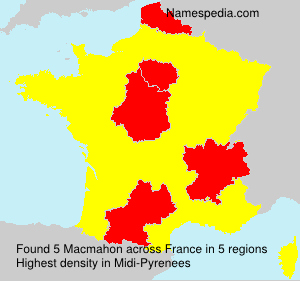 Surname Macmahon in France