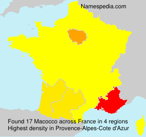 Surname Macocco in France