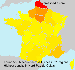 Surname Macquet in France