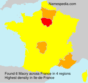 Surname Macry in France