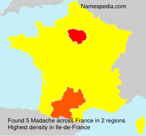 Surname Madache in France