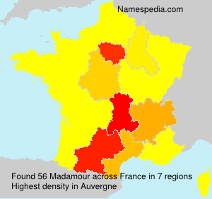 Surname Madamour in France