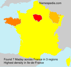Surname Maday in France