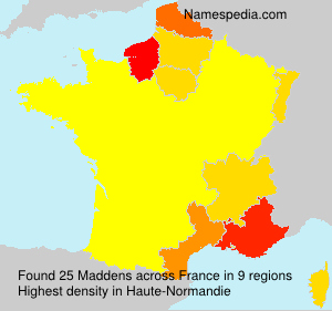 Surname Maddens in France