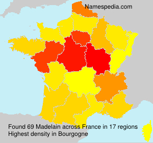 Surname Madelain in France
