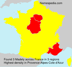 Surname Madely in France
