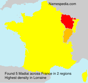 Surname Madiai in France