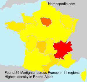 Surname Madignier in France