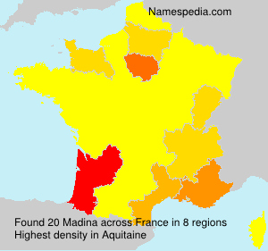 Surname Madina in France