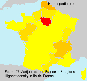 Surname Madjour in France