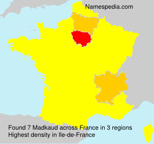 Surname Madkaud in France