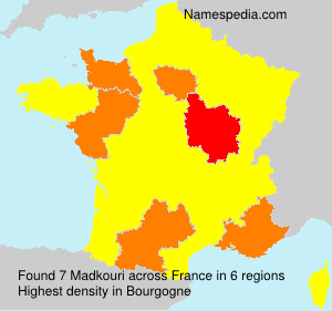 Surname Madkouri in France