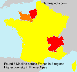 Surname Madline in France