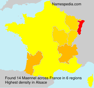 Surname Maennel in France