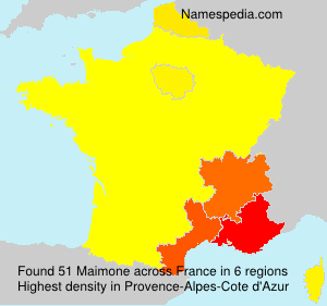 Surname Maimone in France