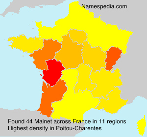 Surname Mainet in France