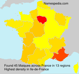 Surname Maiques in France
