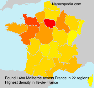 Surname Malherbe in France