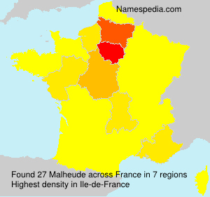 Surname Malheude in France