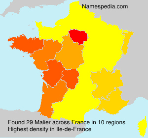 Surname Malier in France