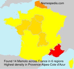 Surname Mamolo in France