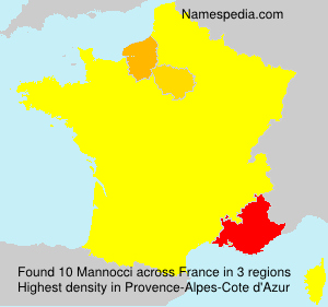 Surname Mannocci in France