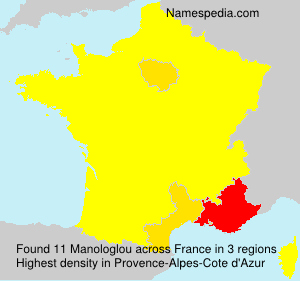 Surname Manologlou in France