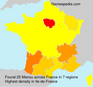 Surname Manou in France