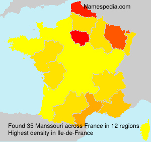 Surname Manssouri in France