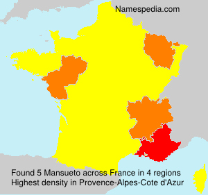 Surname Mansueto in France