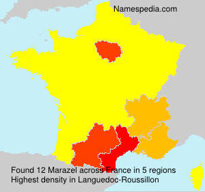 Surname Marazel in France