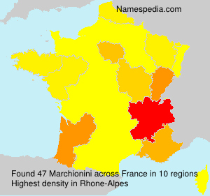 Surname Marchionini in France