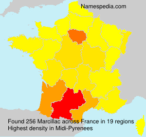 Surname Marcillac in France