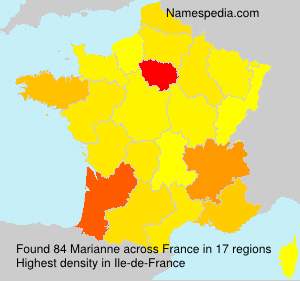 Surname Marianne in France