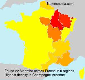 Surname Marinthe in France