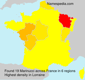 Surname Marinucci in France