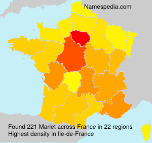 Surname Marlet in France